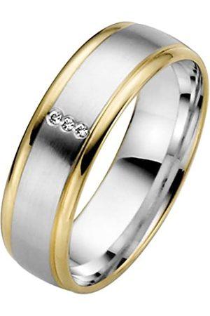 Trauringe Liebe hoch zwei Anillo de oro bicolor de 8 quilates con diamante (.015)