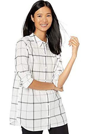 Goodthreads Lightweight Cotton Boyfriend Tunic Athletic-Shirts, White Windowpane