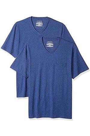 Amazon Pack de 2 camisetas de corte holgado con cuello en V y bolsillo en el pecho para hombre