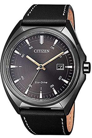 Citizen Reloj Analógico para Hombre de Cuarzo con Correa en Cuero AW1577-11H