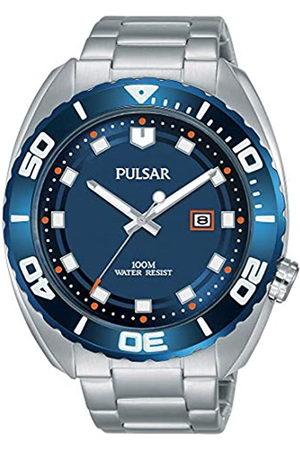 Seiko Pulsar Reloj analogico para Hombre de Cuarzo con Correa en Acero Inoxidable PG8281X1