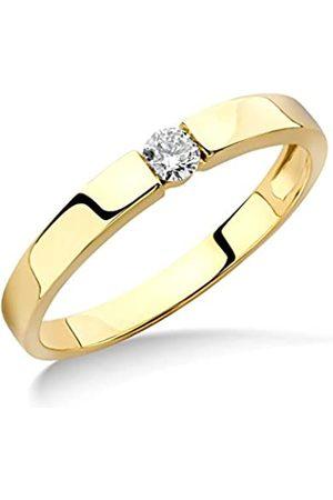 Miore Mujer-ring Solitaire 9 Quilates (375) Oro con texto 0 crotalo