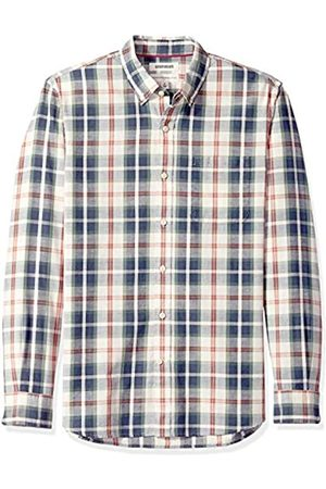 Goodthreads Marca Amazon – – Camisa de manga larga de corte estándar de cambray para hombre