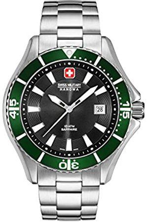Swiss Military Hanowa Reloj Analógico para Hombre de Cuarzo con Correa en Acero Inoxidable 06-5296.04.007.06