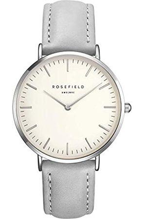 Rosefield Mujer Relojes - The Bowery Cuarzo - Reloj (Reloj de Pulsera, Femenino, Plata, Cuero