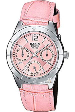 Casio Reloj Multiesfera para Mujer de Cuarzo con Correa en Piel LTP-2069L-4AVEF