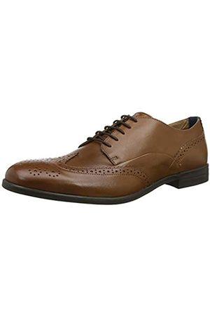 H by Hudson Aylesbury, Zapatos de Cordones Brogue para Hombre, (Tan 24)