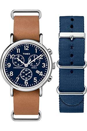 Timex Reloj Analógico para Unisex Adultos de Cuarzo con Correa en Cuero TWG012800