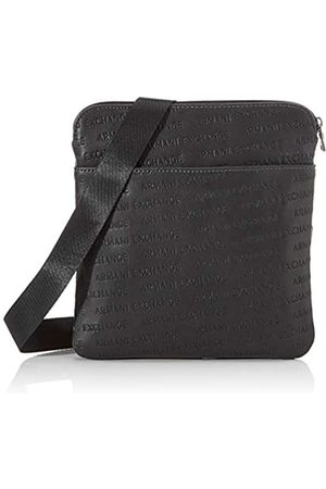 Armani Small Crossbody Bag, Bolso bandolera Hombre, (Nero Black)