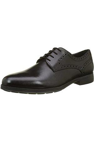 Geox U Hilstone 2fit C, Zapatos de Cordones Derby para Hombre, (Black)
