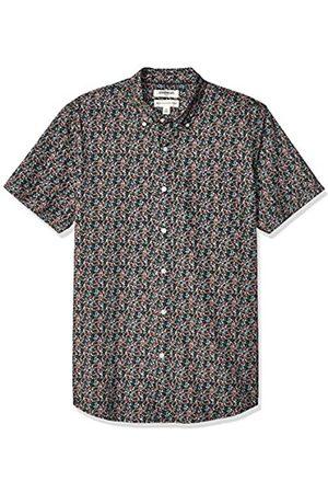 Goodthreads Marca Amazon – – Camisa estampada de manga corta de popelín y corte estándar para hombre