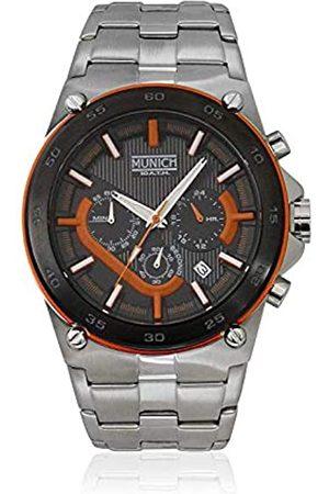 Munich Relojes - Reloj Analógico para Unisex Adultos de Cuarzo con Correa en Acero Inoxidable MU+138.1B