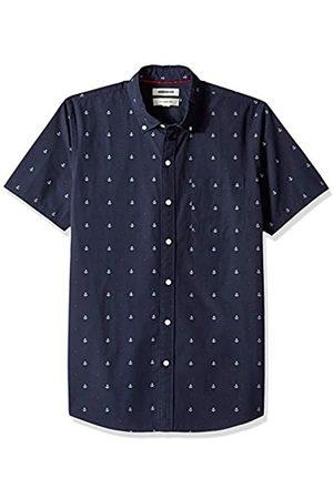 Goodthreads Marca Amazon – – Camisa dobby de manga corta de corte entallado para hombre