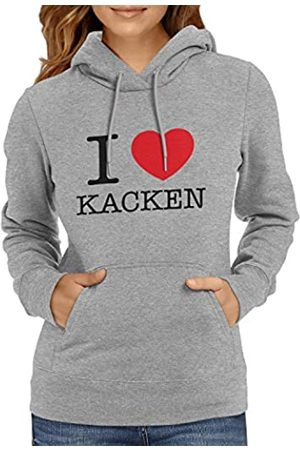 Texlab I Love kacken Sudadera con Capucha, Mujer