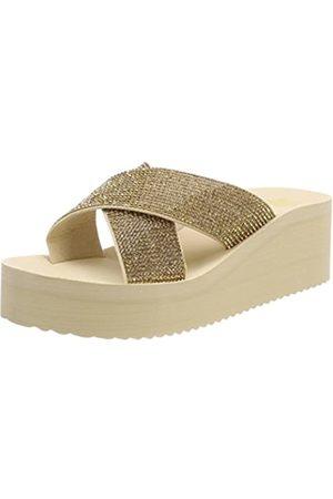 flip*flop Plateau Cross Glam, Sandalias con Plataforma para Mujer, (Sombrero 8580)