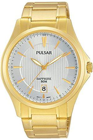 Seiko Pulsar para Hombre-Reloj analógico de Cuarzo Chapado en Acero Inoxidable PS9384X1