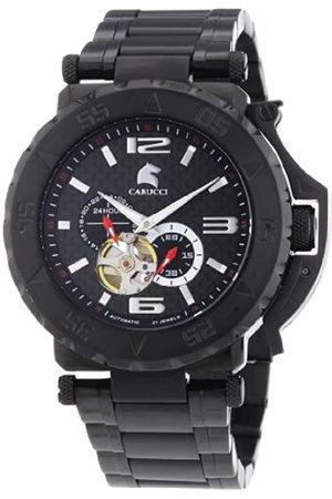 Carucci Watches CA2199BK-BK - Reloj de Pulsera Hombre, Revestimiento de Acero Inoxidable