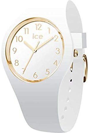 Ice-Watch ICE glam White Gold Numbers - Reloj bianco para Mujer con Correa de silicona - 014759 (Small)