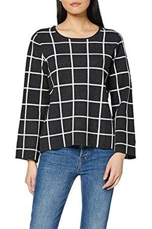 Blue Seven Damen Pullover Im Modernen Karomuster suéter