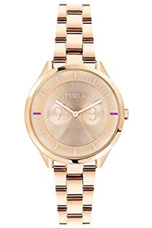 Furla Reloj Analógico para Mujer de Cuarzo con Correa en Acero Inoxidable R4253102518