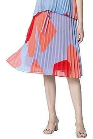 Apart Printed Plissee Skirt Falda