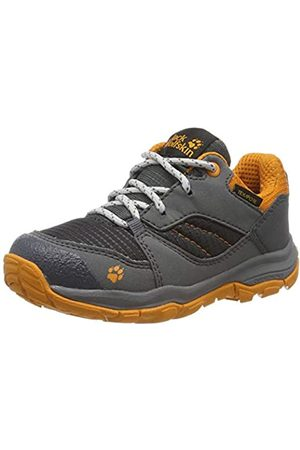 Jack Wolfskin Mtn Attack 3 XT Texapore K, Zapatos de Low Rise Senderismo Unisex Niños, Ebony/Orange 6243