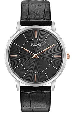 BULOVA 98A167 - Reloj de Pulsera de Diseño para Hombre - Ultrafino - Correa de Cuero