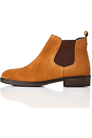 find. Casual Suede Botas Chelsea, Tan