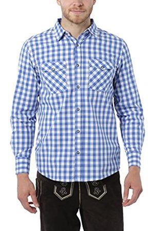 Lower East Camisa a cuadros para hombre, /Blanco