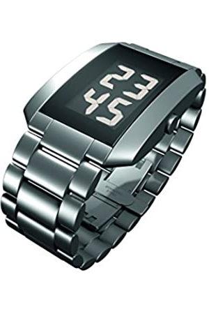Rosendahl Watch III - Reloj digital de caballero de cuarzo con correa de acero inoxidable plateada - sumergible a 50 metros