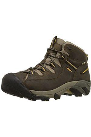 Keen Targhee II Mid WP, Zapatos de High Rise Senderismo para Hombre, (Black Olive/Yellow)