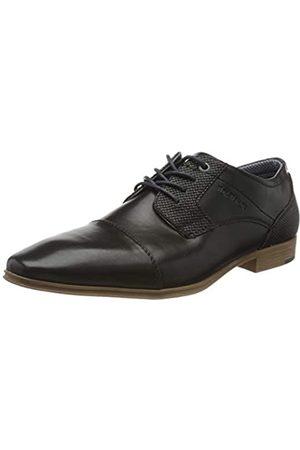 TOM TAILOR 8081701, Zapatos de Cordones Oxford para Hombre, (Black 00001)