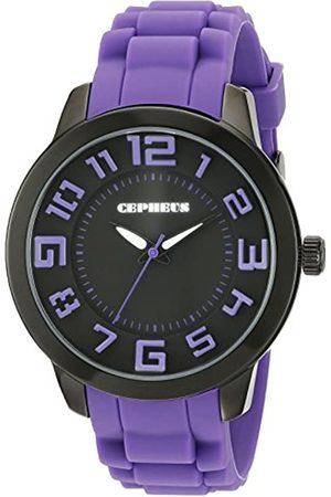 CEPHEUS CP604-620B - Reloj analógico de Cuarzo para Mujer con Correa de Silicona