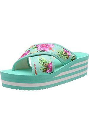 flip*flop Plateaucross Aloha, Sandalias con Plataforma para Mujer, (Lt Turquoise 4271)