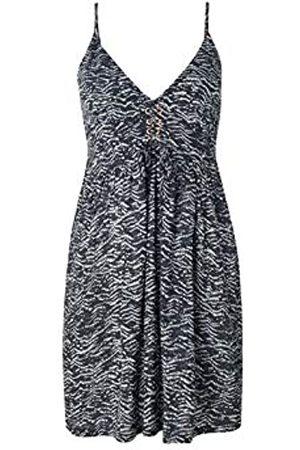 O'Neill LW Tolowa Strappy Dress Vestido Corto para Mujer, Black AOP w/Green