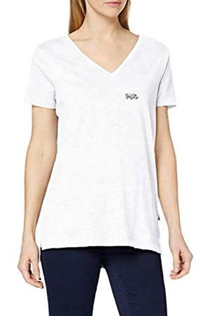 Sorai Camiseta de Manga Corta para Mujer con Cuello en V y Bordado en el Pecho, Mujer, 0793591910673