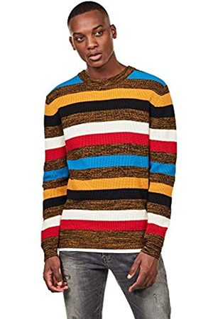 G-Star Mike Stripe suéter, (Dk Gold/Dk Black A909)