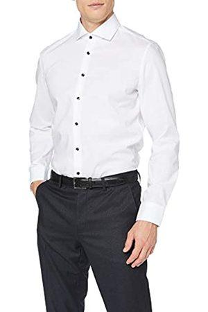 Seidensticker Herren Business Slim Fit – Bügelfreies, schmales Hemd mit Kent-Kragen – Langarm – 100% Baumwolle Camisa