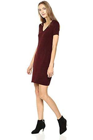 Daily Ritual Jersey Short-Sleeve V-Neck T-Shirt Dress