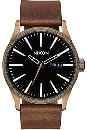 Nixon Reloj Analógico para Unisex Adultos de Cuarzo con Correa en Cuero A105-3053-00