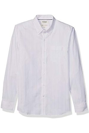 Goodthreads Standard-fit Long-Sleeve Stretch Oxford Shirt (All Hours) Camisa abotonada, White Pink Triple Stripe
