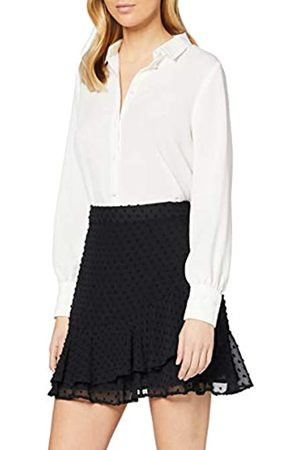 Dorothy Perkins Black Textured Ruffle Mini Skirt Falda