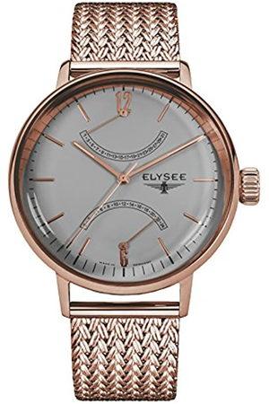 Elysee Reloj Analógico para Unisex Adultos de Cuarzo con Correa en Acero Inoxidable 13290M