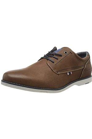 TOM TAILOR 8080702, Zapatos de Cordones Oxford para Hombre, (Cognac 00205)