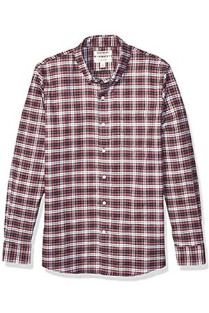 Goodthreads Slim-fit Long-Sleeve Stretch Oxford Shirt (All Hours) Camisa abotonada, Red White Check