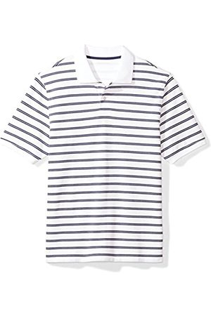 Amazon Essentials Regular-fit Striped Cotton Pique Polo Shirt