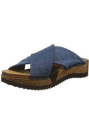 Sanita Mujer Zuecos - Tilka Sport Flex Sandale, Mules para Mujer, (Denim 5)