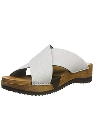 Sanita Tanja Sport Flex Sandal, Zuecos para Mujer, Silber (Ash 73)