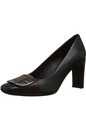 Geox D Vivyanne High D, Zapatos de Tacón para Mujer, (Dk Forest/Dk Burgund C3h7j)