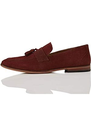 FIND Suede Mocasines, Rot Burgundy